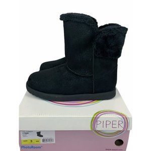 Piper Cindy black fur lined boots size 3